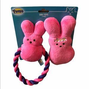 🆕 Peeps Dress up Bunny Plush & Rope Pull Dog Toy